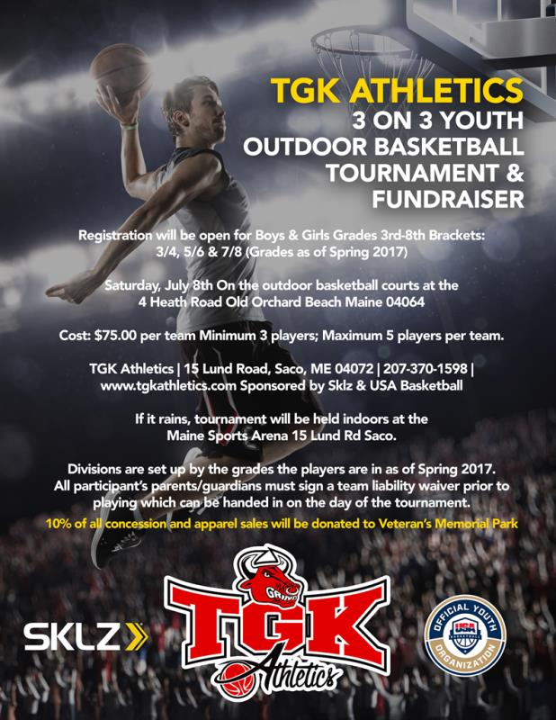 TGK Athletics 1st Annual 3on3 Outdoor Hoops tournament Sponsored By Sklz