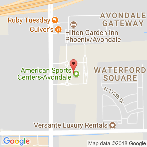 American Sports Center in Avondale Map