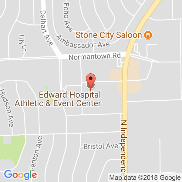 Edward Hospital Athletic & Event Center Map